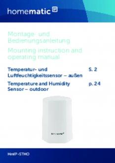 Handleiding van Homematic IP Temperatuur en luchtvochtigheid sensor buiten - wit