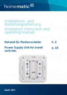 Handleiding van Homematic IP Inbouw voeding