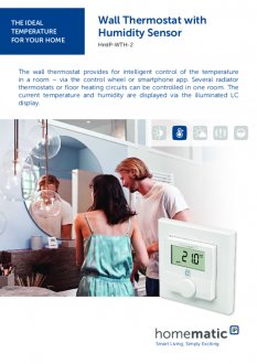 Datasheet van Homematic IP Thermostaat