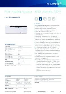 Datasheet van Homematic IP Zoneregelaar 10 kanalen - 230V