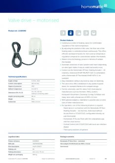 Datasheet van Homematic IP Stappenmotor proportioneel