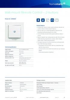 Datasheet van Homematic IP Draadloze drukknop met 2 knoppen