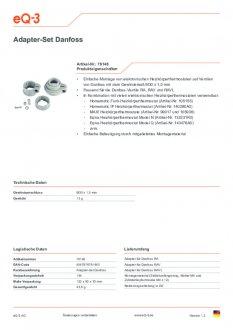 Datasheet van Homematic IP Danfoss thermostaatknop afsluiter adapter