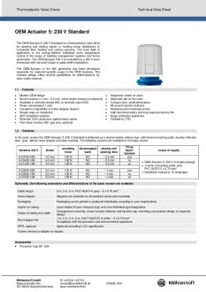 Datasheet van Homematic IP Thermische motor 230V