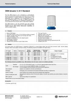 Datasheet van Homematic IP Thermische motor 24V