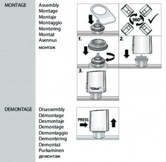 Handleiding van Homematic IP Afsluiter adapter M30 x 1,5 - VA90