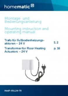 Handleiding van Homematic IP Voeding voor zoneregelaar 24V