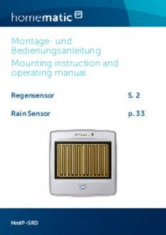 Handleiding van Homematic IP Regensensor