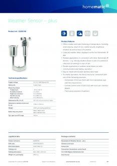 Datasheet van Homematic IP Weerstation plus