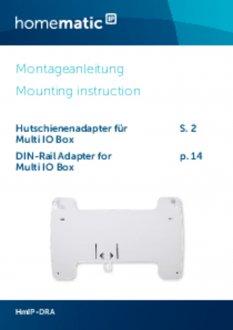 Handleiding van Homematic IP DIN-rail montagevlak voor warmtepomp module