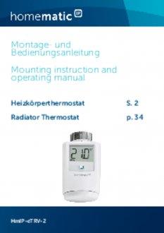 Handleiding van Homematic IP Slimme thermostaatknop