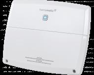 De Homematic IP warmtepomp module stuurt een warmtepomp aan als er verwarmd of gekoeld moet worden in een of meerdere kamers.