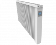 Thermotec elektrische radiator 2450 watt, met ingebouwde thermostaat. Geschikt voor ruimtes tot 58 m3 in een ongeïsoleerde woning tot bouwjaar 1975 met energielabel D of lager, of 82 m3 in een matig geïsoleerde woning tot bouwjaar 2005 met energielabel C, of 111 m3 in een goed geïsoleerd woning tot bouwjaar 2021 met energielabel B of hoger.