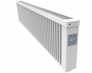 Thermotec liggende elektrische radiator 2000 watt, met ingebouwde thermostaat. Geschikt voor ruimtes tot 48 m3 in een ongeïsoleerde woning tot bouwjaar 1975 met energielabel D of lager, of 67 m3 in een matig geïsoleerde woning tot bouwjaar 2005 met energielabel C, of 91 m3 in een goed geïsoleerd woning tot bouwjaar 2021 met energielabel B of hoger.