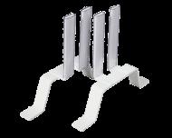 Elegante metalen standvoet set voor elektrische radiatoren. De radiator kan overal in de ruimte geplaatst worden. De standvoeten klemmen stevig vast in de radiator en zorgen ervoor dat de verwarming stabiel staat.